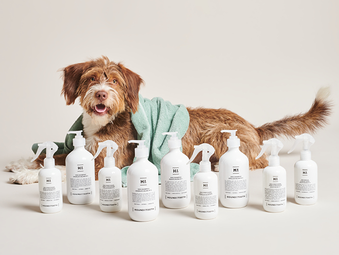 Houndztooth natural grooming range for dogs