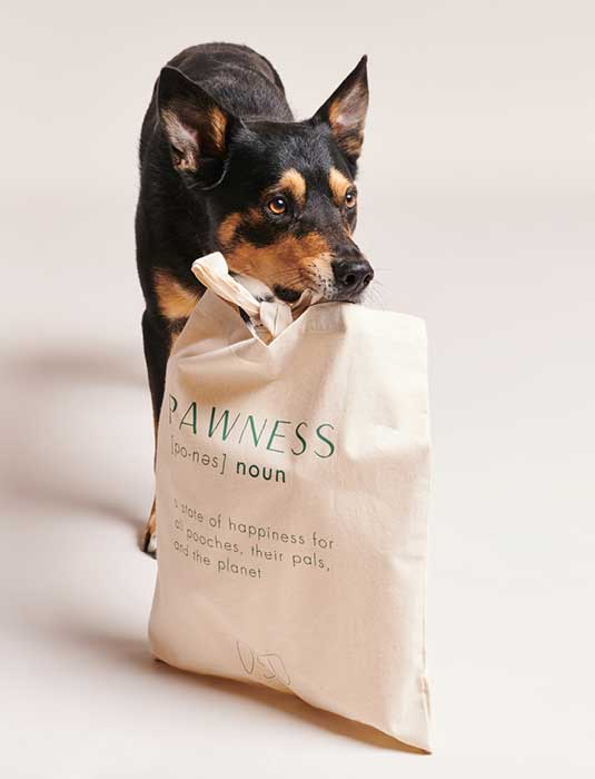 PAWNESS COTTON SHOPPER