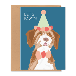 PGC20X03_Greeting Card Let's Pawty