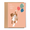 PGC20X04_Greeting Card It's Pawty Time