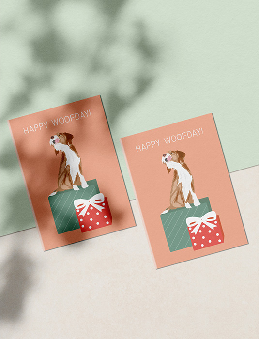 Pawness greeting card - happy woofday