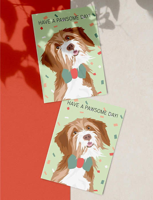 Pawness greeting card-have a pawsome day