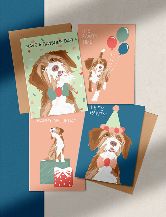 Pawness Greeting card set